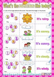 English Worksheet: What´s the weather like today?