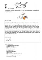 English Worksheets: Cat�s World