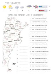 English Worksheet: What�s the weather like in Argentina?