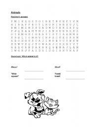 English Worksheets: Animals4