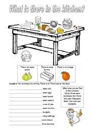 in the kitchen worksheets. Black Bedroom Furniture Sets. Home Design Ideas