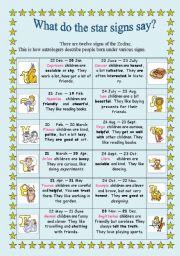 English Worksheet: Describing people´s character