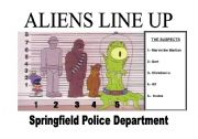 English Worksheet: Aliens Line up