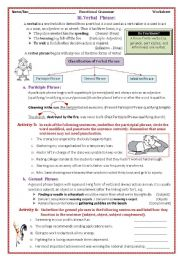 English Worksheet: The Phrase and its Kinds2/2