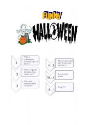 English Worksheets: Funny Hallowe�en