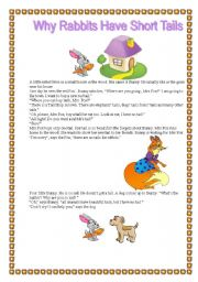 English worksheet: Why rabbits have short tails?