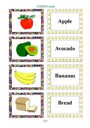 English Worksheet: Food Flashcards 3