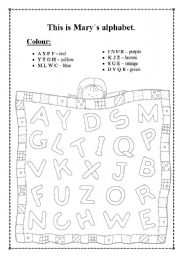 Alphabet colour.