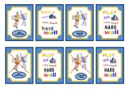 English Worksheet: Sports-Simple present and adverb game cards-set 5 of 5 volleyball