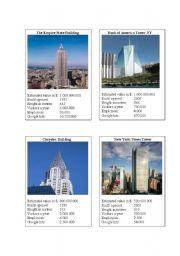 English Worksheet: New York Sights Card Game