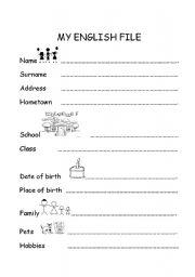 English Worksheets: My English File