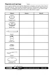 English worksheets: Magnets