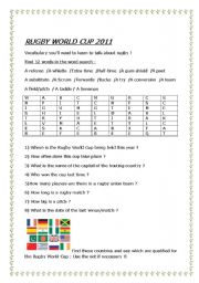 English Worksheet: Rugby World Cup 2011