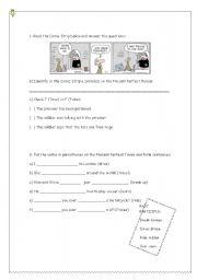 English worksheet: PRESENT PERFECT WORKSHEET