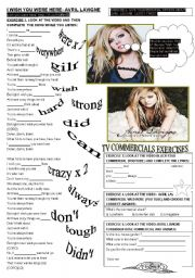 English Worksheet: I WISH YOU WERE HERE - AVRIL LAVIGNE