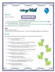 English Worksheets: using Until