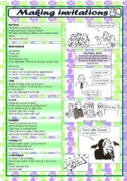 English Worksheets: talking about - MAKING INVITATIONS