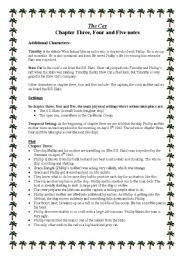 English Worksheets: The Cay - Chapter 3, 4 and 5 notes