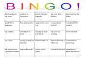 English Worksheet: People Bingo! game for adults
