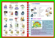 English Worksheet: CLASSROOM LANGUAGE/ EXERCISES and READING ACTIVITY