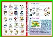 English Worksheet: CLASSROOM LANGUAGE/ EXERCISES and READING ACTIVITY