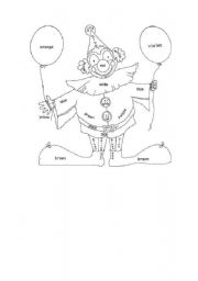 English Worksheets: the clown