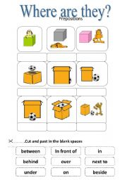 where are they prepositions  esl worksheet by jhansi where are they prepositions