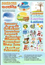 English Worksheet: seasons-months