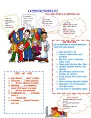 English Worksheets: Conjunctions (2)