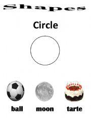 English Worksheets: Circle shape