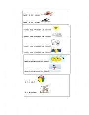 English Worksheets: CARDS FOR ORAL ACTIVITIES