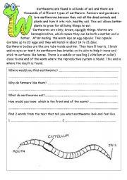 earthworm worksheet resultinfos. Black Bedroom Furniture Sets. Home Design Ideas