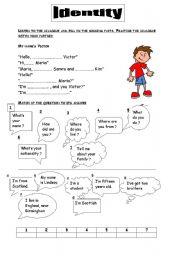 English Worksheets: identity