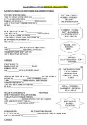 English Worksheets: song by RED HOT CHILI PEPPERS