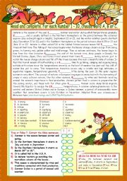 English Worksheet: AUTUMN.