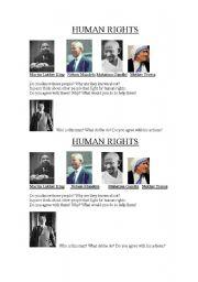 English Worksheets: Human rigths