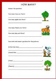 English Worksheets: How Many?