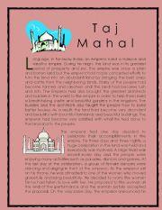 Wonder of the World Story series 2 ( Taj Mahal)