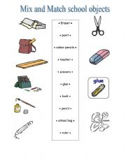Mix and match school objects