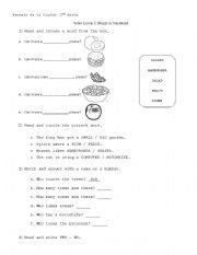 English Worksheet: Muzzy in Gondoland Epidode 1, part 2.