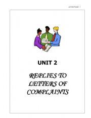 English Worksheet: replies to letter of complaints