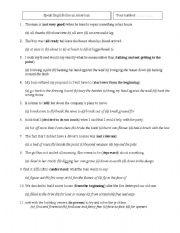 English Worksheets: the man