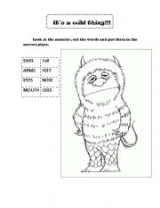 English teaching worksheets: Where the wild things are