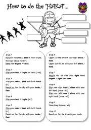 English Worksheets: All Black�s haka