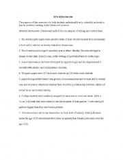 English Worksheets: APA Style