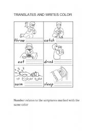 English Worksheets: the actions