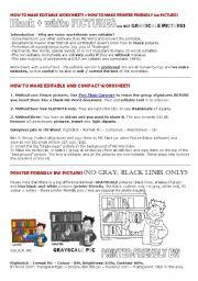English worksheet: Compact Editable BW printer-friendly Worksheets