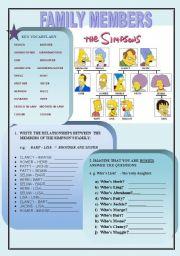 English Worksheet: Family Members Practice
