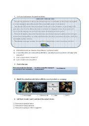 English worksheet: Reading class