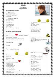 English Worksheets: U Smile - Justin Bieber - Song